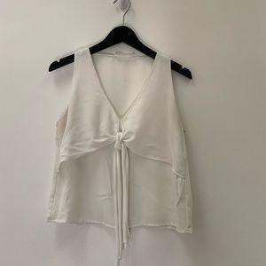 Lush White Sleeveless Top